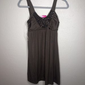 4/$25 Candies brown dress sz Small